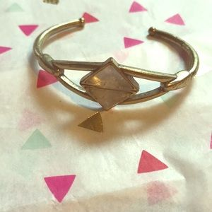LUCKY Brand Quartz and Brass Two Triangle Bangle